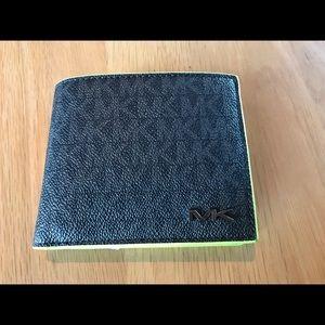 Michael Kors Bags - Michael Kors Black Monogram w Neon Green Trim New